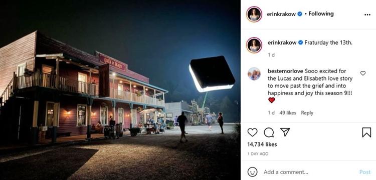 When Calls The Heart Star Erin Krakow Shares Stunning Night Photo